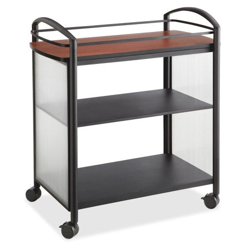 Safco Impromptu Open Beverage Cart SAF8967BL, Black (UPC:073555896725)
