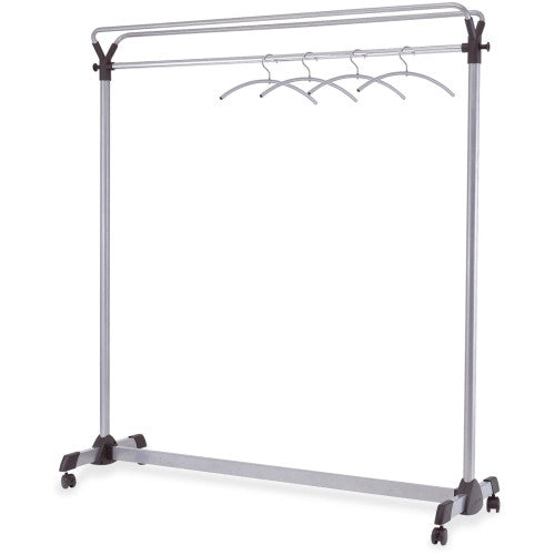 Alba Upper Shelf Mobile Coat Rail ; (129710012407); Color:Silver
