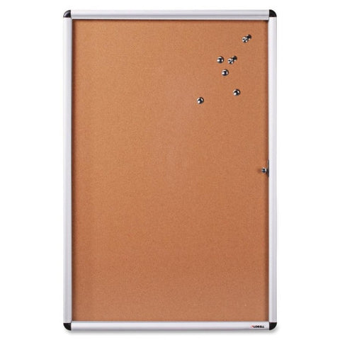Lorell Enclosed Cork Bulletin Board ; UPC: 035255427074