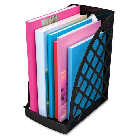 Deflecto Sustainable Office Jumbo Magazine File 30% Recycled Content DEF34904, Black (UPC:079916349046)