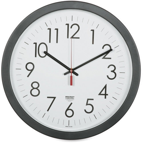 "SKILCRAFT 14.5"" Round Workstation Wall Clock ; (830951004396)"