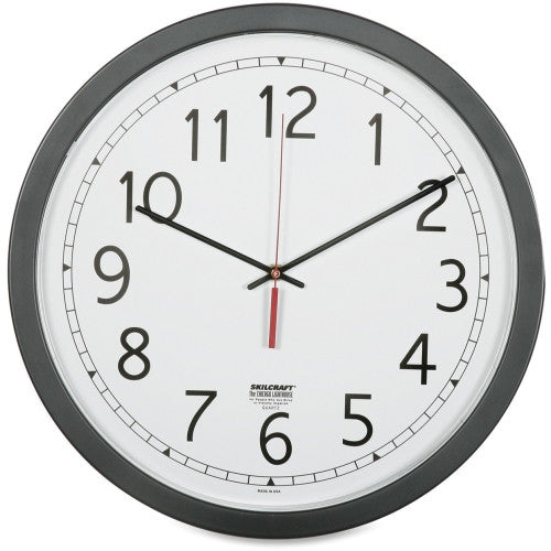 "SKILCRAFT 16.5"" Round Workstation Wall Clock ; (830951004471)"