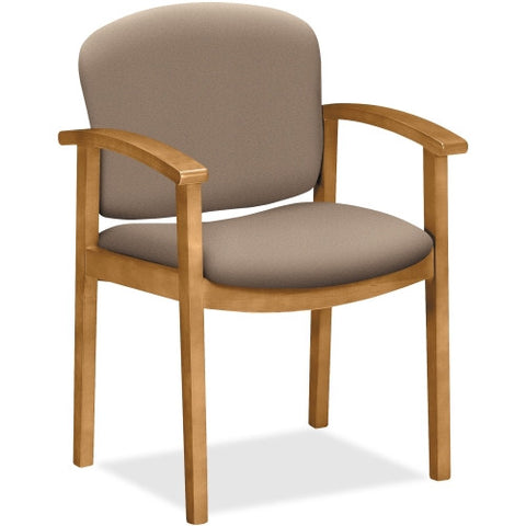 HON 2111 Single Rail Harvest Wood Guest Chairs HON2111CCU24, Brown (UPC:631530514486)