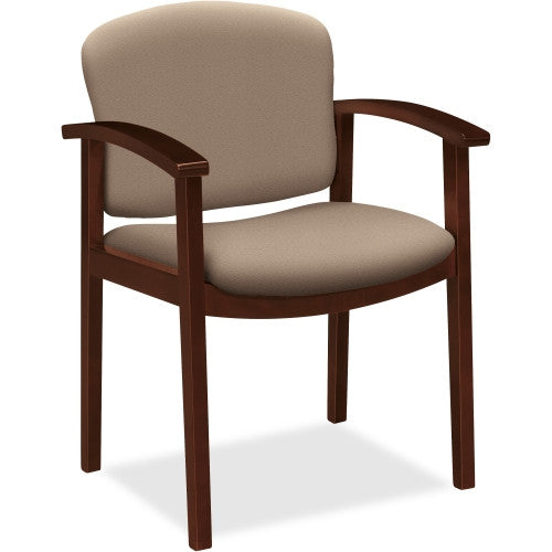HON 2111 Single Rail Arm Mahogany Guest Chair HON2111NCU24, Brown (UPC:745123163309)