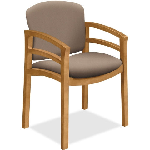 HON 2112 Dble Rail Arms Harvest Wood Guest Chair HON2112CCU24, Brown (UPC:888531769036)