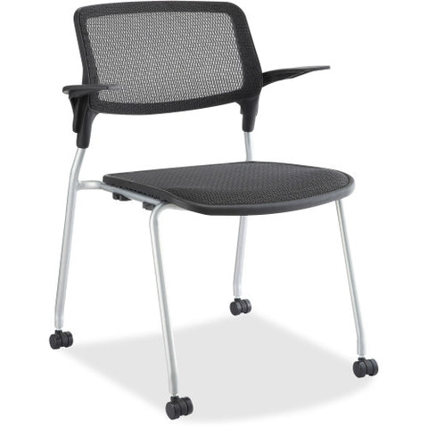 Lorell Fixed Arms Stackable Guest Chairs ; UPC: 035255845748