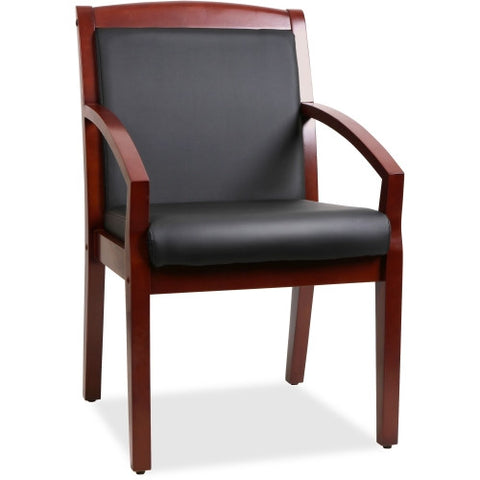 Lorell Sloping Arms Wood Guest Chair ; UPC: 035255200141