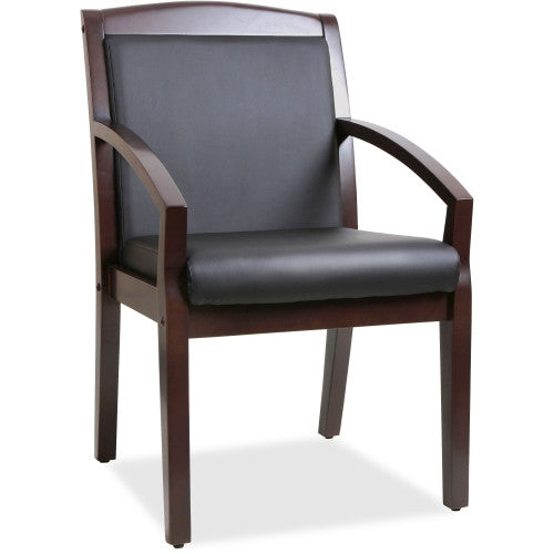 Lorell Sloping Arms Wood Guest Chair ; UPC: 035255200158