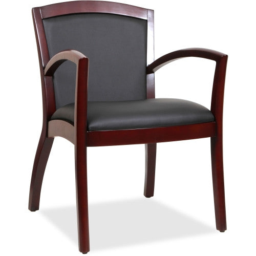 Lorell Arched Arms Wood Guest Chair ; UPC: 035255200110