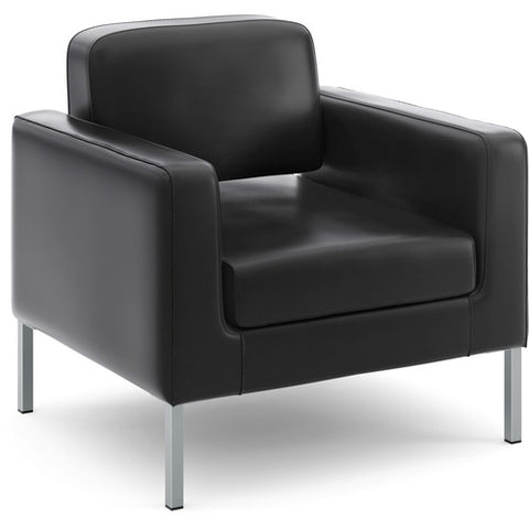 HON Corral Club Chair | Black SofThread Leather ; UPC: 888206238409 ; Image 4