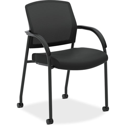 HON Lota Stacking Multi-Purpose Side Chair | Fixed Loop Arms | Black ; Image 4