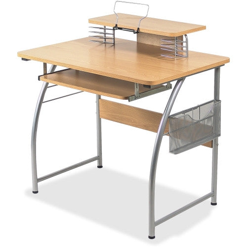 Lorell Upper Shelf Laminate Computer Desk ; UPC: 035255143370