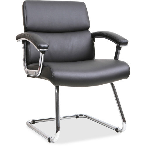 Lorell Sled Base Leather Guest Chair ; UPC: 035255200196
