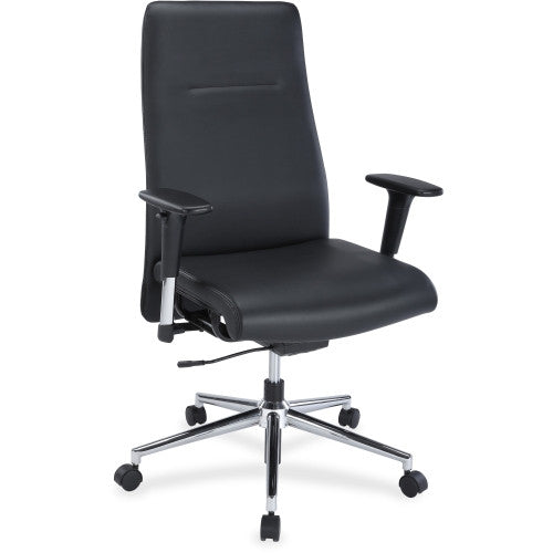 Lorell Leather Suspension Chair ; UPC: 035255348508