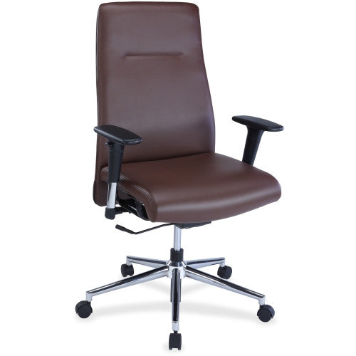 Lorell Leather Suspension Chair ; UPC: 035255348515