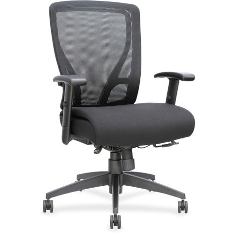 Lorell Fabric Seat Mesh Mid-back Chair ; UPC: 035255402040