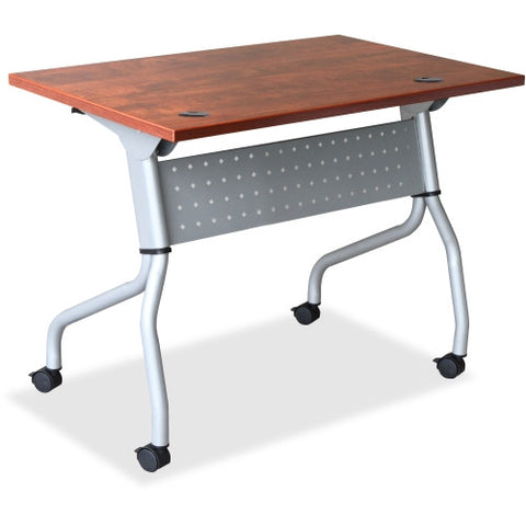 Lorell Cherry Flip Top Training Table ; UPC: 035255607193