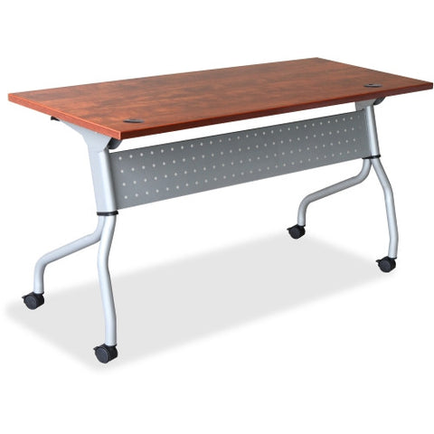 Lorell Cherry Flip Top Training Table ; UPC: 035255607216