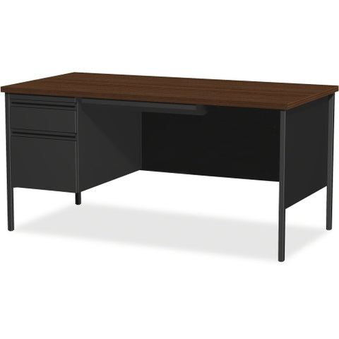 Lorell Fortress Series Left-Pedestal Desk LLR60918