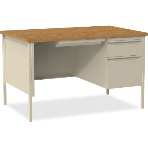 "Lorell Fortress Series 48"" Right Single-Pedestal Desk - Rectangle Top - 1 Pedestals - 30"" X 48"" Table Top"