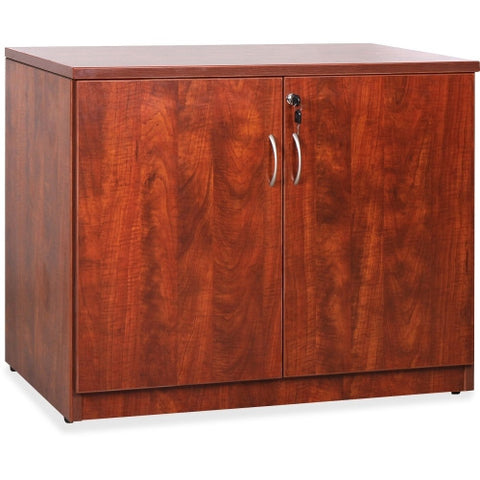 Lorell Essentials Series Cherry 2-door Storage Cabinet ; UPC: 035255696111