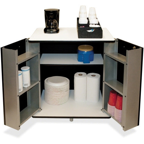 Vertiflex Refreshment Center with Storage Space for Microwave and Kitchen Supplies ; UPC: 015433505008