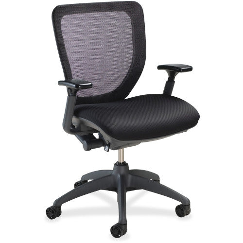 Lorell Mesh-back Task Chair with Synchro Knee Tilt ; UPC: 035255259835