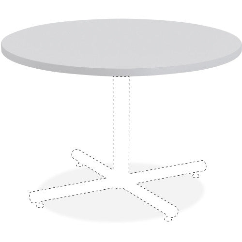 Lorell Round Invent Tabletop - Light Gray ; UPC: 035255625791