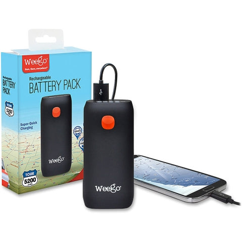 Weego Compact Rechargeable Battery Pack Tour 5200 ; SKU: PRBBP52T ; UPC: 090146200525