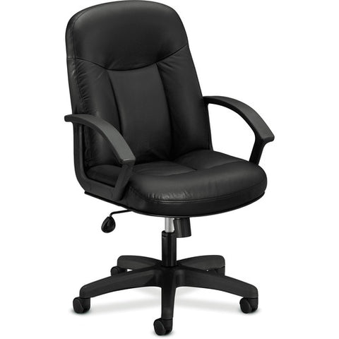 HON High-Back Executive Chair | Center-Tilt, Tension, Lock | Fixed Arms | Black  ; Image 3