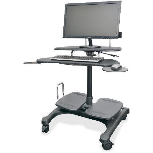 Kantek Mobile Height Adjustable Workstation w/ LCD Mount KTKSTS240 ; UPC: 750333652406