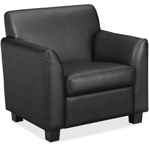 HON Circulate Tailored Club Chair | Black SofThread Leather ; UPC: 745123993937 ; Image 3