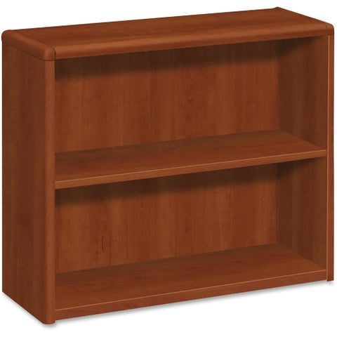 HON 10700 Series Cognac Laminated Fixed Shelves Bookcase HON10752CO, Green (UPC:035349234779)