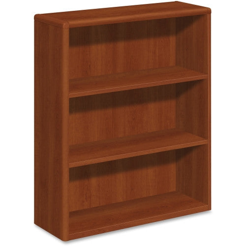 HON 10700 Series Cognac Laminated Fixed Shelves Bookcase HON10753CO, Green (UPC:035349234809)