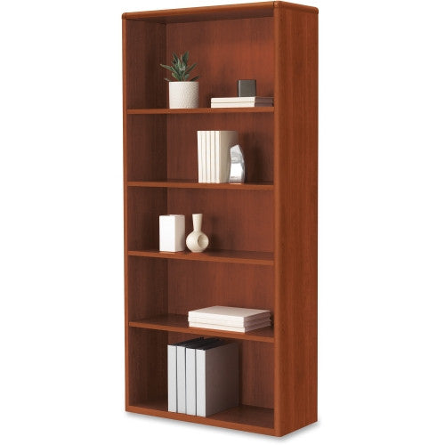 HON 10700 Series Cognac Laminated Adjustable Shelves Bookcase HON107569CO, Green (UPC:035349234892)