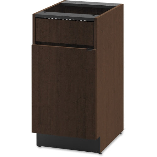 HON Modular Single Waste Management Cabinet HONHPBC1F1D18MO, Mahogany (UPC:035349246178)