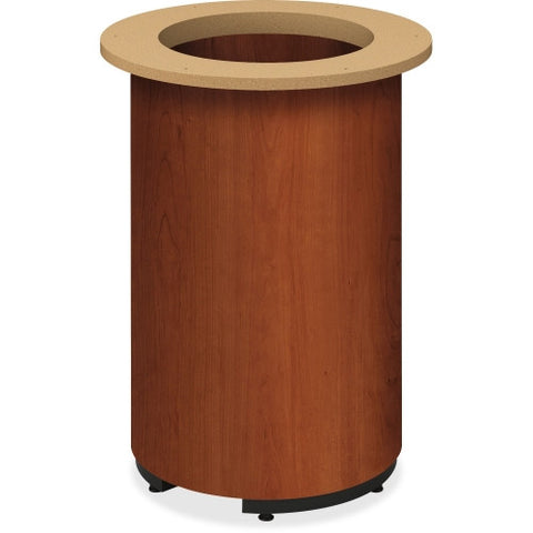 HON Cylinder Base Round Tabletop Table HONTLRACO, Brown (UPC:035349246444)