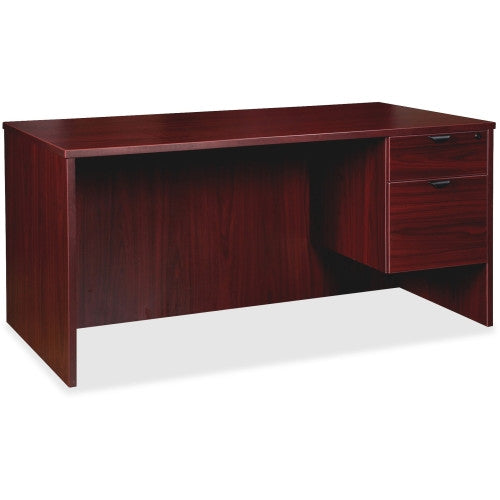 Lorell Prominence Series Mahogany Right Pedestal Desk ; UPC: 035255791854