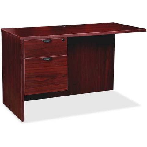 Lorell Prominence 79000 Mahogany Left Pedestal Return ; UPC: 035255791878