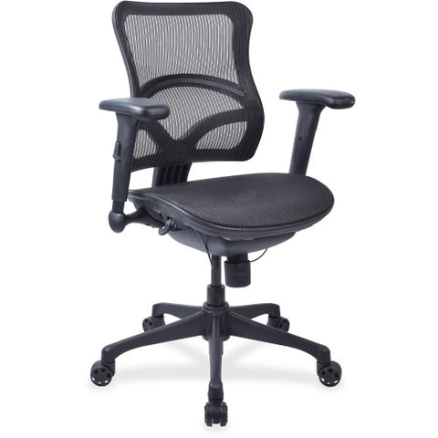 Lorell Full Mesh Mid-back Chair ; UPC: 035255209779