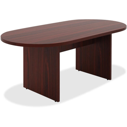 Lorell Chateau Series Mahogany 6' Oval Conference Table ; UPC: 035255343367