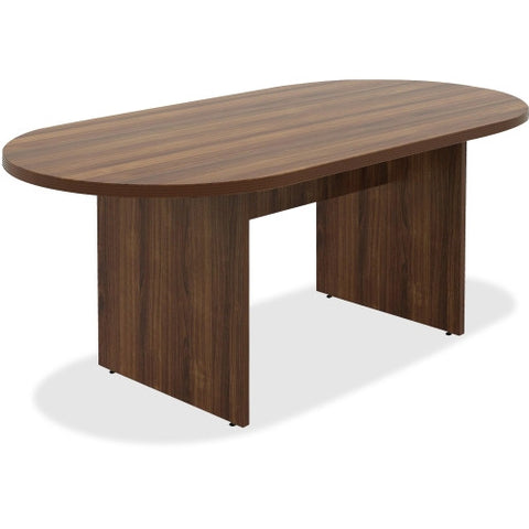 Lorell Chateau Series Walnut Oval 6' Conference Table ; UPC: 035255343374