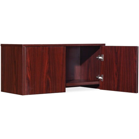 Lorell Essential Series Mahogany Wall Mount Hutch ; UPC: 035255595063