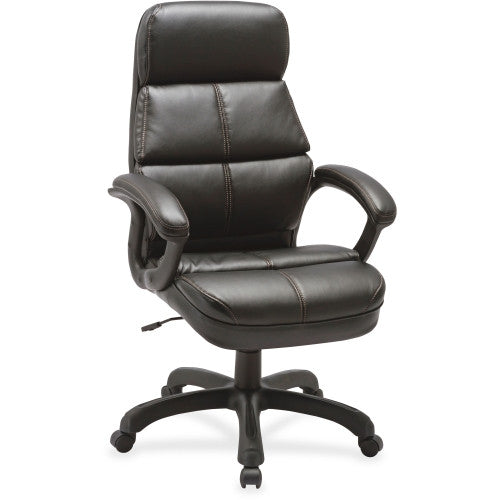 Lorell Luxury High-back Leather Chair ; UPC: 035255595339