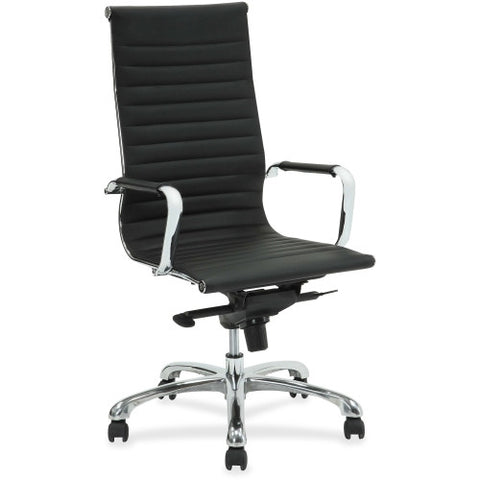 Lorell Modern Chair Series High-back Leather Chair ; UPC: 035255595377