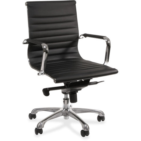 Lorell Modern Chair Series Mid-back Leather Chair ; UPC: 035255595384