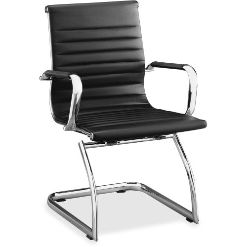Lorell Modern Chair Mid-back Leather Guest Chair ; UPC: 035255595391