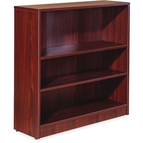 Lorell Essentials Series Mahogany Laminate Bookcase ; UPC: 035255595643