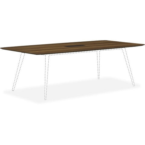 Lorell Walnut Laminate Rectangular Conference Tabletop w/Wire Management ; UPC: 035255595841