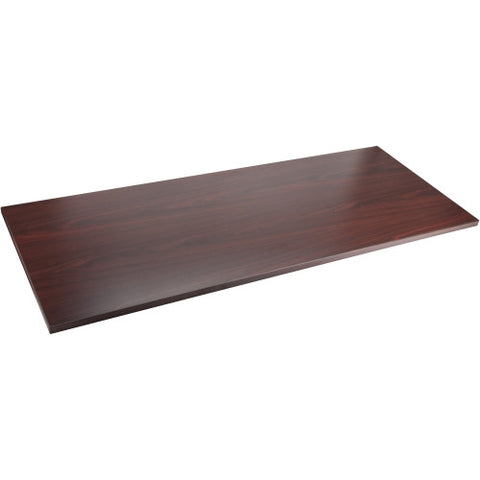 Lorell Mahogany Adjustable Height Table Top ; Mahogany ;  (UPC: 035255596077)